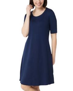 Isaac Mizrahi Plus 2X Petite Essentials Pima Cotton Dress Dark Navy P2X