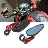 "Pair of 7/8"" 22mm Motorcycle Motorbike Alloy Bar End Side Rearview Mirrors"