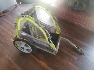 Instep Bike Trailer for Kids Single Seat Green/Grey used good condition w/ hitch