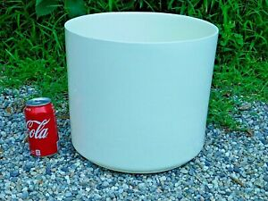 LARGE White Mid-Century Modern Architectural Pottery Planter Haeger Ceramic 11""