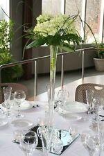 "28"" White Eiffel Tower Vases Glass Tower Vase 28"" Tall Vase Wedding Vase 12 PC"