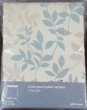 John Lewis Hannah Duck Egg Lined Pencil Pleat Curtains W168cm x L182cm