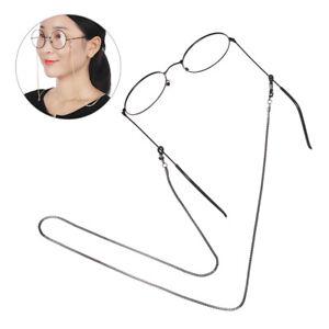 Men Alloy Reading Glasses Chain Eyeglasses Retainer Lanyard Strap Cord Holder
