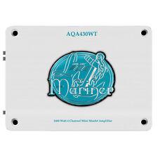New Lanzar AQA430WT 1600 Watts 4 Channel Mini Mosfet Marine Amplifier