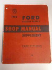 1952 Ford F Series Truck Supplement Shop Manual Repair Book Ford Technical Merc