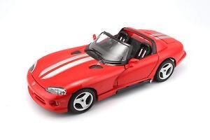 DODGE VIPER RT/10 RED 1:18 DIECAST MODEL CAR BY BBURAGO 12024