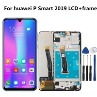 LCD Display Screen Touch Digitizer Frame Assembly For Huawei P Smart 2019