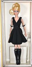 BARBIE BLACK DRESS SILKSTONE NRFB - new model poseable doll collection Mattel