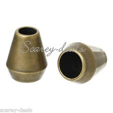 10x Bronze Cone Cord End Toggle Stoppers Buckles Drawstring Locks 1st Class Post
