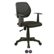 Silla de oficina, sillon para despacho, silla estudio, Negro o Violeta, Ergo