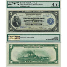 1918 $20 FRBN New York Battleship PMG Certified Choice Extremely Fine 45 EPQ