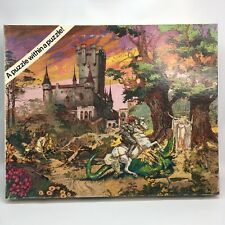 Vintage 1984 Puzzle Hidden Pictures Great American Company Knight Dragon Castle