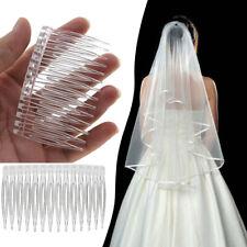 5PCS Plain Hair Combs Pin Slide Side Comb Updo Headpiece for Wedding Bridal Veil