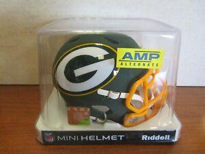 Green Bay Packers Riddell Mini Helmet Matt Green Amp Alternate
