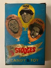 Vintage Complete Phoenix Candy 1959 Three Stooges Candy & Toy Box + Candy + Toy
