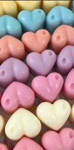 Highly Scented Wax Melts 8 x Large Heart Shape Melts 100% Soya Wax Free Delivery