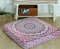 "Large 35X35"" Square Pink Mandala Cushion Cover Floor Pillow Cover Dog Bed Cover"