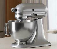 KitchenAid Stand Mixer tilt 5-Quart RRk150mc metallic Chrome Artisan