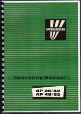 Welger AP 38/42 & AP 48/53 Baler Operator Instruction Manual Book