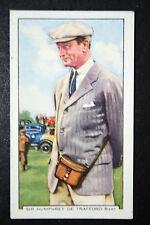Senior Horse Racing Steward    Original 1930's Vintage Colour # Card