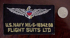 U.S. NAVY FLIGHT SUITS LTD. MIL-S-18342G8 EMBROIDERED WINGS IRON-ON PATCH