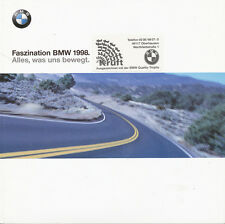 BMW Programm Prospekt 1998 D Faszination brochure broszura 3er 5er 7er 8er Z3 M