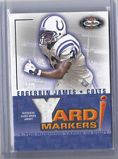 2002 Fleer Box Score Football Edgerrin James Colts Game Worn Jersey Card