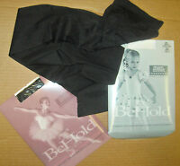 NEW MAIN STREET BALLET FOOTED TIGHTS BLACK BEHOLD CH/AD nylon lycra