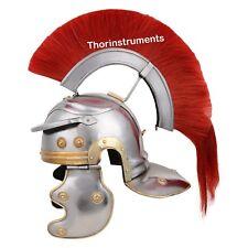 Roman Centurion Helmet-Armor w/ Red Crest-Plume Gladiator Medieval