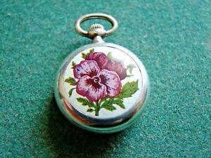 Schöne Royal DamenTaschenuhr Swiss Made Vintage mechanische Uhr Ketten Halsuhr