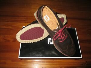 New Men's  FootJoy Club Casual Golf Shoes 11.5 Medium Brown Pro Shop Price $199