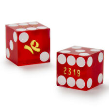 (2) 19mm IMPERIAL PALACE official casino-used precision dice - poker, craps