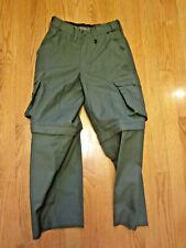 Boy Scout WEBELOS PANTS Green Convertible Sz 6 Youth Uniform Zipoff Legs canvas