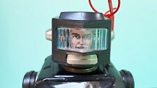 Vintage Horikawa SPACE EXPLORER Robot Tin Toy w/Box Works But Needs Repair Read
