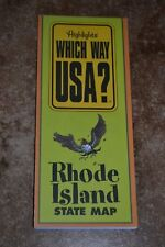 "Highlights Which Way Usa? Rhode Island State Map ""Vgc"""