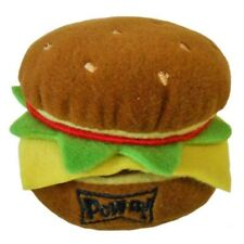 NEW Hamburger Dog Toy (Sm or Lg) in Power Plush by Lulubelles FREE SHIPPING