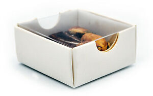 50 WHITE CHOCOLATE BOX BOXES CLEAR LID 1 single insert pack chocolate favor gift