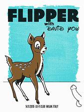 FLIPPER with DAVID YOW Milan, Italy 2015 poster Francisco Ramirez