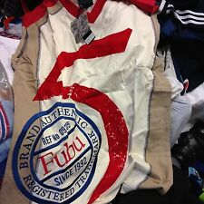 Fubu Chaleco embroide en Med O Grande 44.46NCH hbnwl en Crema/Azul £ 8.