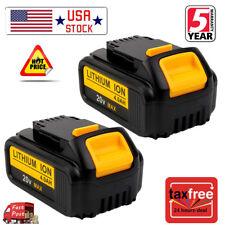 2X DCB204-2 20V 20 Volt Max XR 4.0Amp Lithium Ion Battery Pack For DeWalt DCB200