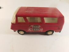 Vintage Tonka Pressed Steel Fire Chief Van #55360, 5 Inches Long