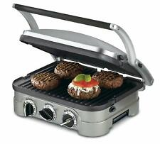 Cuisinart CGR-4NC Griddler Multi-Function 5-in-1 Dual Temp Control Brand New