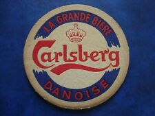 Ancien sous-bock oud bierviltje CARLSBERG La grande bière danoise - R/V