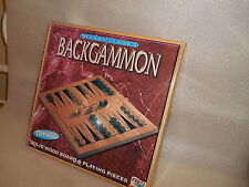 Wooden Backgammon Board & Traditional Games