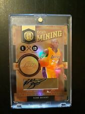Kobe Bryant 2010-11 Gold Standard Gold Mining  Auto 04/24 Lakers