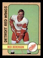 RED BERENSON 72-73 O-PEE-CHEE 1972-73 NO 123 NRMINT+ 18088