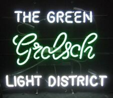 """New Grolsch Beer The Green Light District Neon Sign 24""""x20"""" Lamp Poster"""