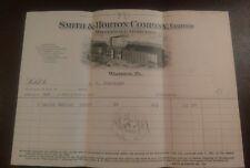 1919 SMITH & HORTON WHOLESALE GROCERS Warren, Pennsylvania Billhead illustrated