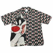 Vintage Looney Tunes Sylvester All over Print Short Sleeve Button Up Shirt Size