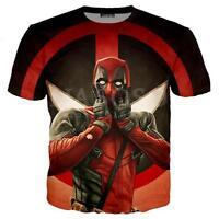 New Fashion Womens/Mens Deadpool 2 3D Print Casual T-Shirt Y60
